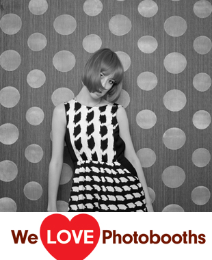 Photo Booth Background 13 Black and White
